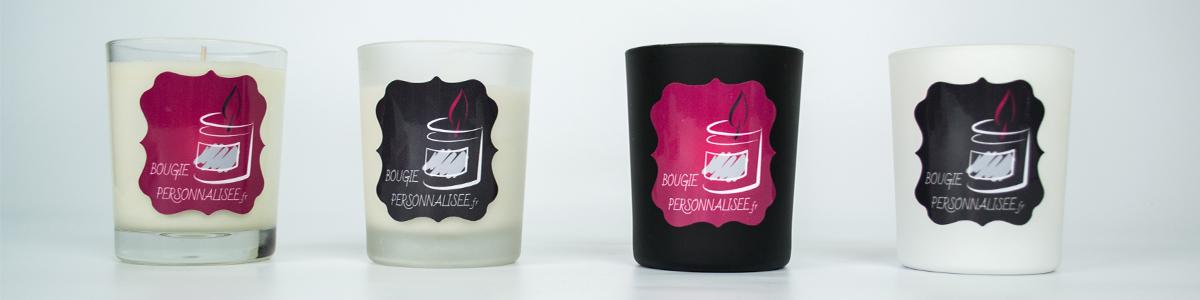 180, grammes, bougies, personnalisées, noir, blanc, dépoli, transparent, verre, contenant