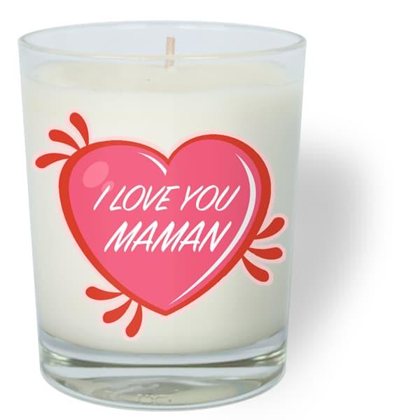 i love you maman fêtes des mères je t'aime coeur bougie